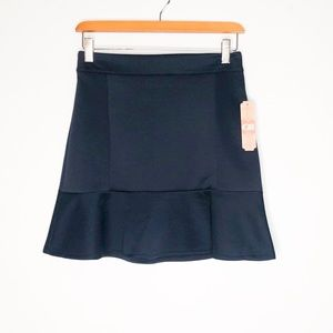 Gianni Bini Navy Blue fit flare skirt NWT small